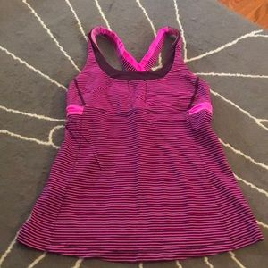 Lululemon run stuff your bra tank